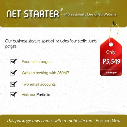 NET STARTER Website Package